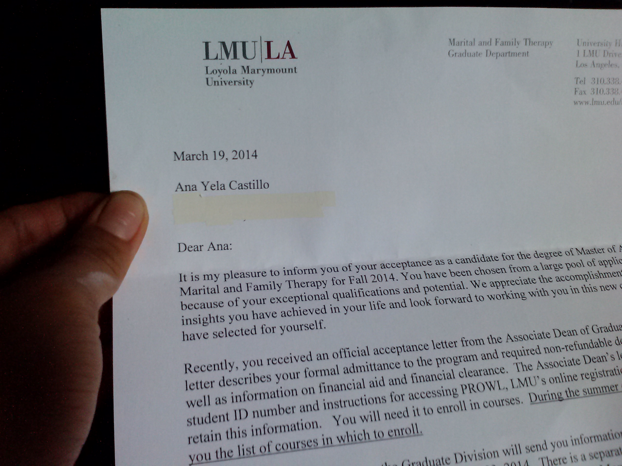 The Shooting Arrow Lmu Acceptance